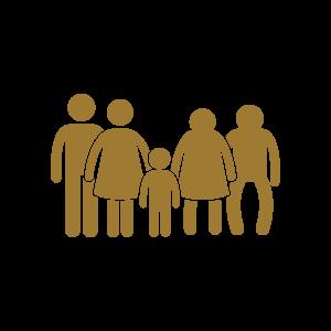 אייקון משפחה מחשבון מזונות ילדים