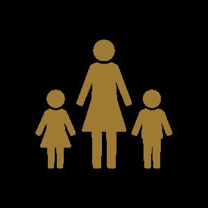 אייקון אמא וילדים עורך דין מזונות